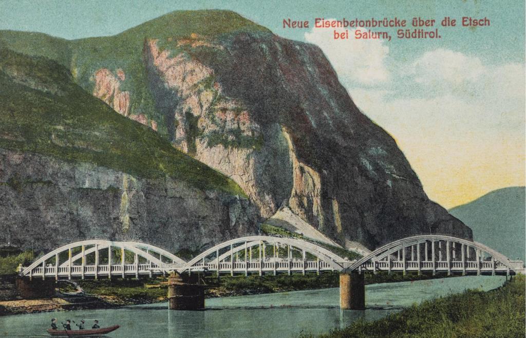 Brückenbau Brücke Salurn Etsch Südtirol